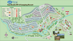 San Benito Campground Map - 2019