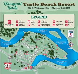 Turtle Beach Campground Map - 2019