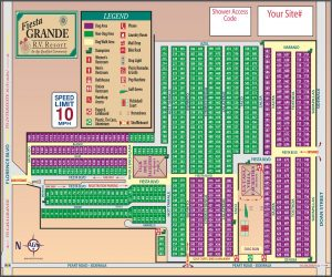 Fiesta Grande Resort Map - 2020