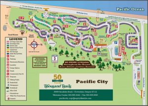 Pacific City Campground Map - 2020