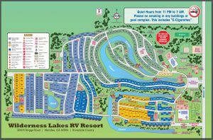 Wilderness Lakes Map